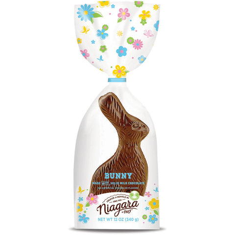 Solid Orange, Milk, Dark Chocolate Bunny | 12 oz - Niagara by Frey,