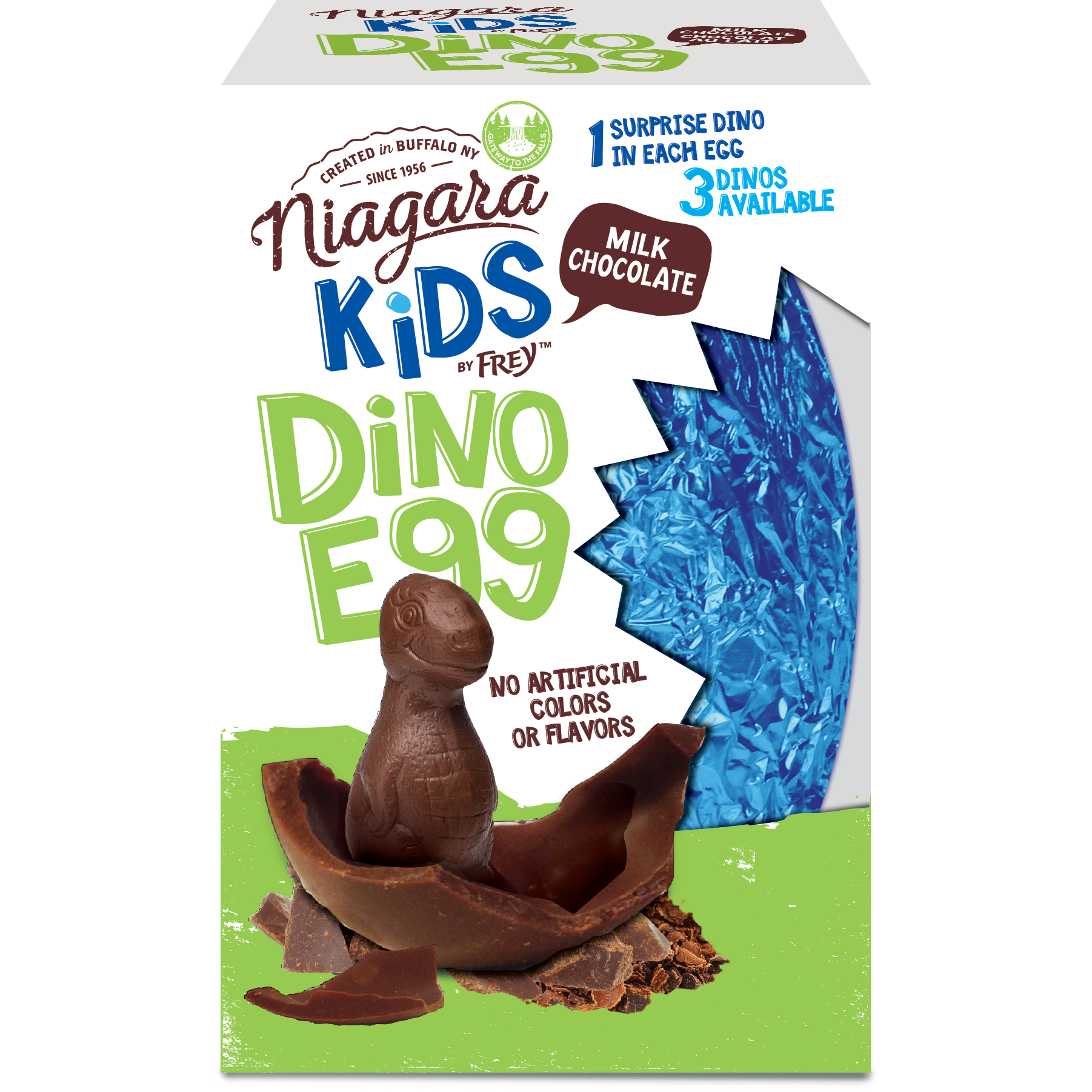 Milk Chocolate Dinosaur Surprise Egg - Niagara by Frey, Premium Chocolate