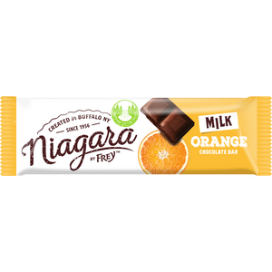 Milk Chocolate Orange | 7 Candy Bars - Niagara by Frey, Premium Chocolate