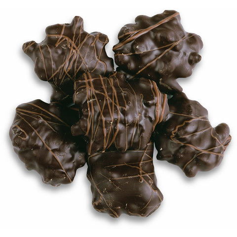 Dark Chocolate Almond Biscotti Caramel Clusters | 7.5 oz - Niagara by Frey, Premium Chocolate