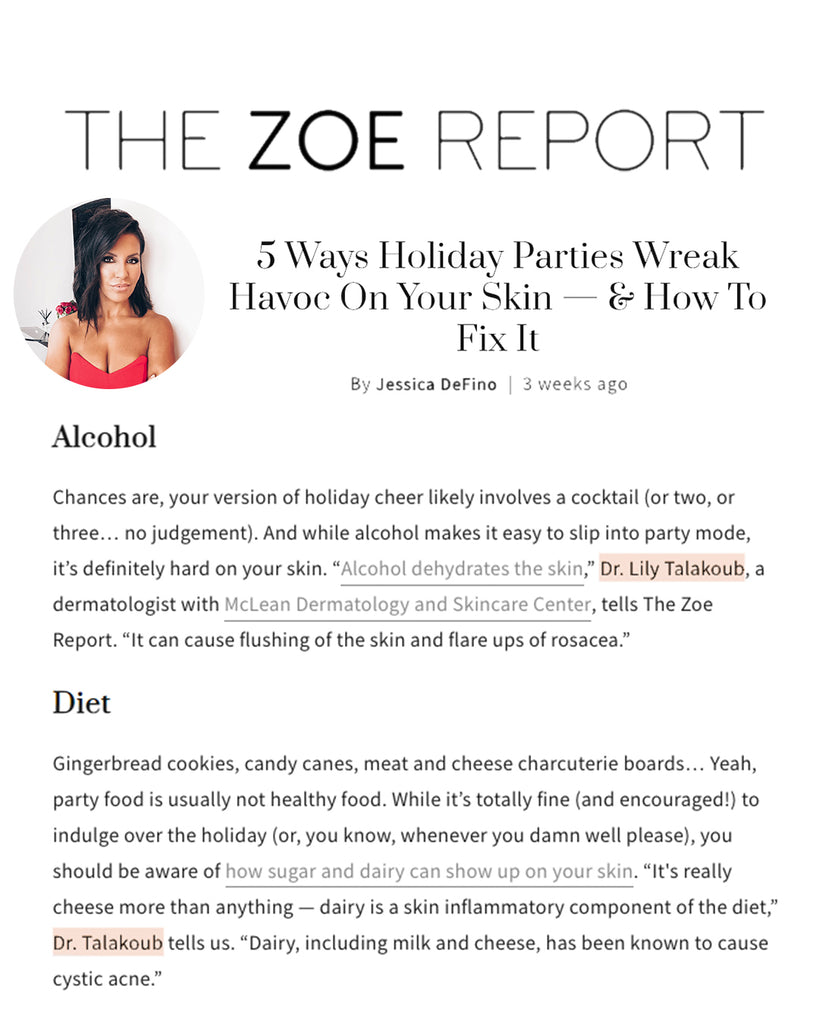 5 Ways Holiday Parties Wreak Havoc On Your Skin — & How To Fix It