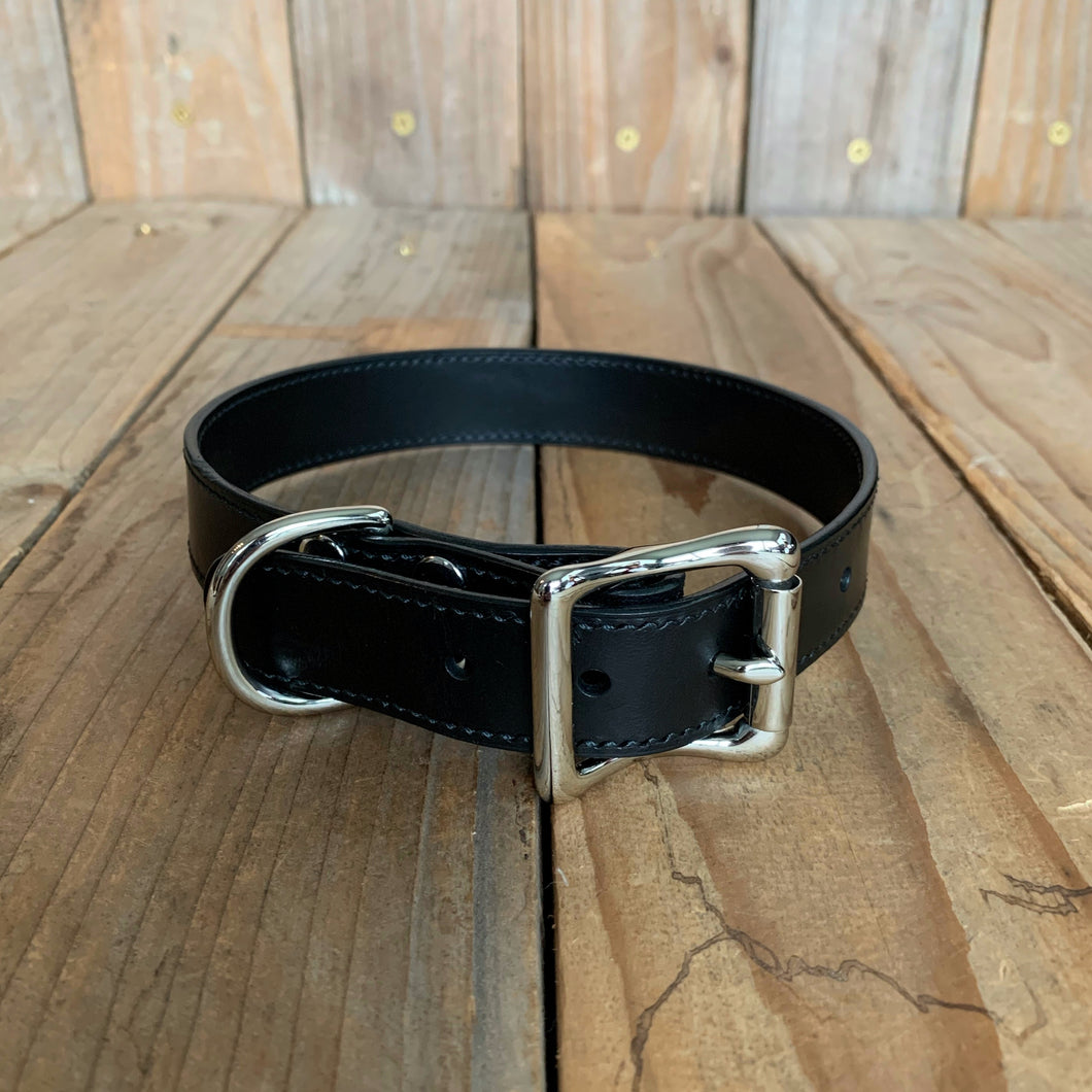 "Italian Leather Dog Collar | 1"" Buckle 
