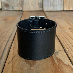 Italian Leather Double Buckle Cuff