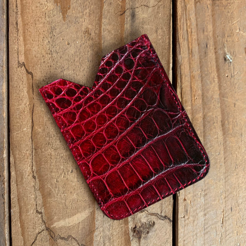 Bleeding Heart | Alligator Skin Skin Micro Card Holder