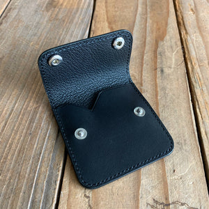 Italian Leather Micro Snap Pouch | Available in Five Colors