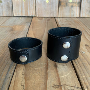 "Italian Leather Snap Cuff | 1"" and 2"" 