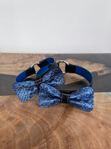 Reserved for S. S. | Two Custom Tag Collar and Bow Tie Sets