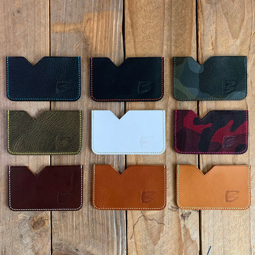 Upcycled Italian Leather Micro Card Holders | Buy 3, Get 1 Free