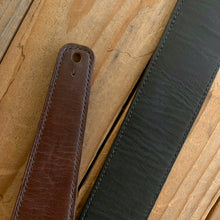 Brown | Horween Leather Fixed Length Guitar Strap