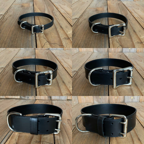 Italian Cowhide Leather Dog Collar | Build Your Own