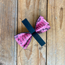 Pink Python | Exotic Leather Bow Tie | Large/Human