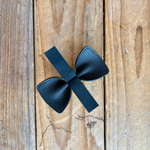 Gold | Leather Bow Tie | Medium