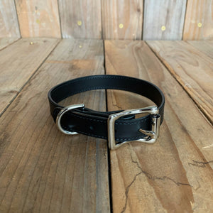 "Italian Leather Dog Collar | 3/4"" Buckle 