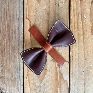 Brandy & Whiskey | Leather Bow Tie | Large/Human