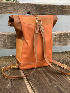 Vachetta Horsehide and Kangaroo Leather Rucksack Backpack