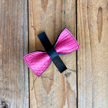 Pink Alligator | Exotic Leather Bow Tie | Medium
