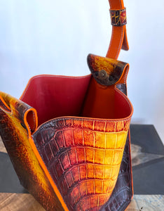 Lava | American Alligator Leather Art Tote Bag