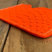 Neon Orange | Python Skin Micro Card Holder