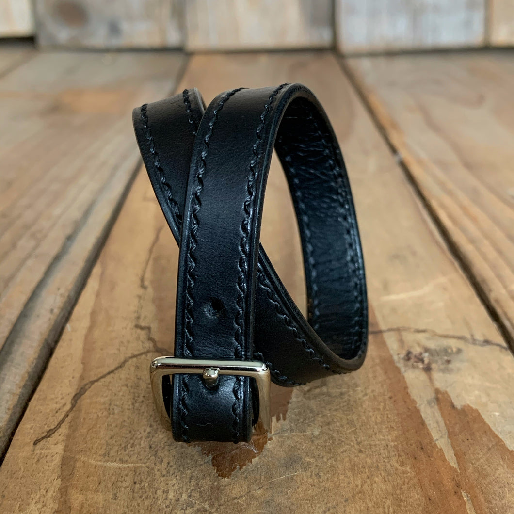 Italian Leather Wrap Buckle Cuff | | Available in Five Colors
