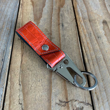 Tomato | Alligator Skin Key Lanyard with Tactical Clip