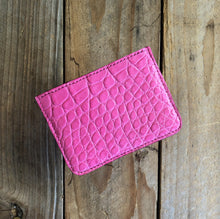 Pink | Alligator Skin Card Wallet