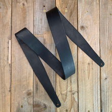 Black | Kangaroo Leather Fixed Length Guitar Strap