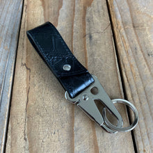 Matte Black | Alligator Skin Key Lanyard with Tactical Clip