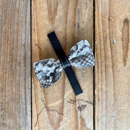 Natural Python | Exotic Leather Bow Tie | Small