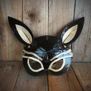 Anubis | Python Fetish Mask with Goatskin and Vachetta Lining