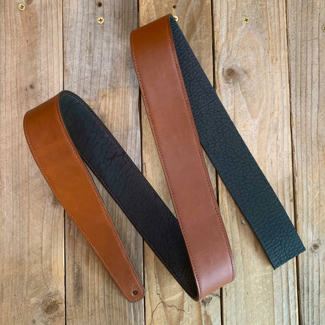 Rust | Horween Leather Fixed Length Guitar Strap