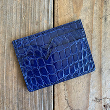 Electric Blue | Alligator Skin Card Wallet