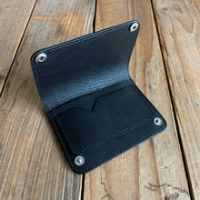 Italian Leather Snap Pouch Wallet