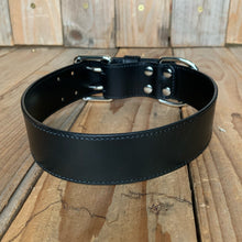 "Italian Leather Dog Collar | 1 1/2"" Buckle 