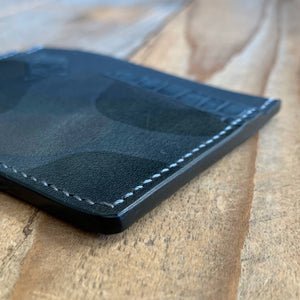 Granite | Alligator Skin, Italian Camo and Kangaroo Leather Minimalist Card Wallet