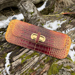 Firebird | American Alligator Leather Art Clutch