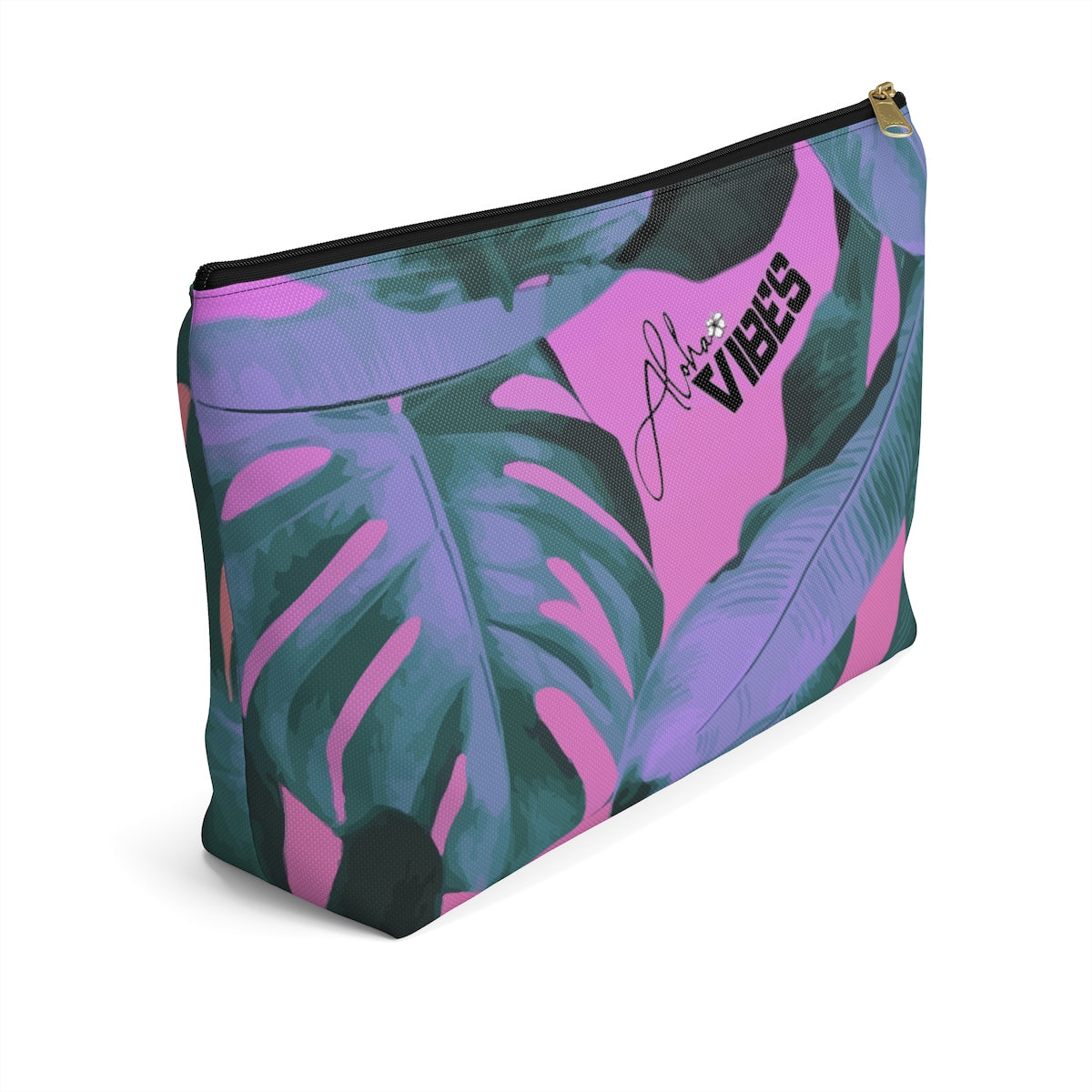 Pink Leaf Pouch