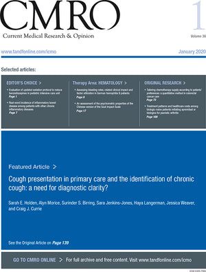 tandf: Current Medical Research and Opinion: Table of Contents