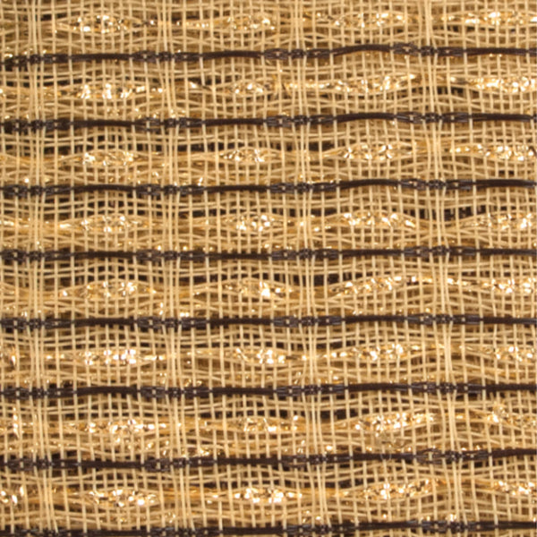 Beige, Brown, Gold Stripe Grill Cloth - The Speaker Factory