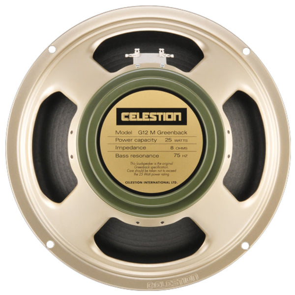 "Celestion G12M Greenback 12"" 25 Watt - The Speaker Factory"