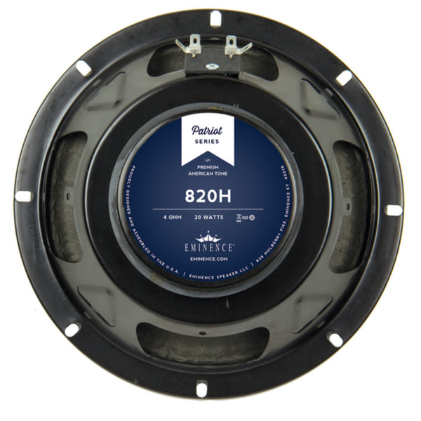 "Eminence 820H 8"" Speaker 20 Watts 4 Ohm - The Speaker Factory"