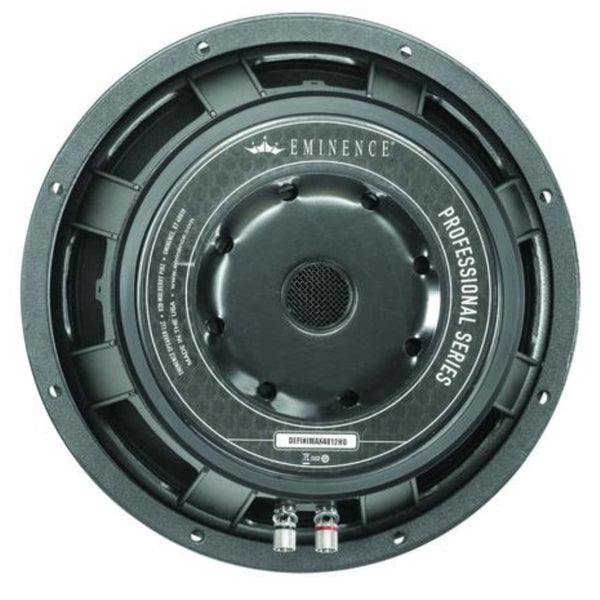 "Eminence DEFINIMAX 4012HO 12"" 600 Watts - The Speaker Factory"