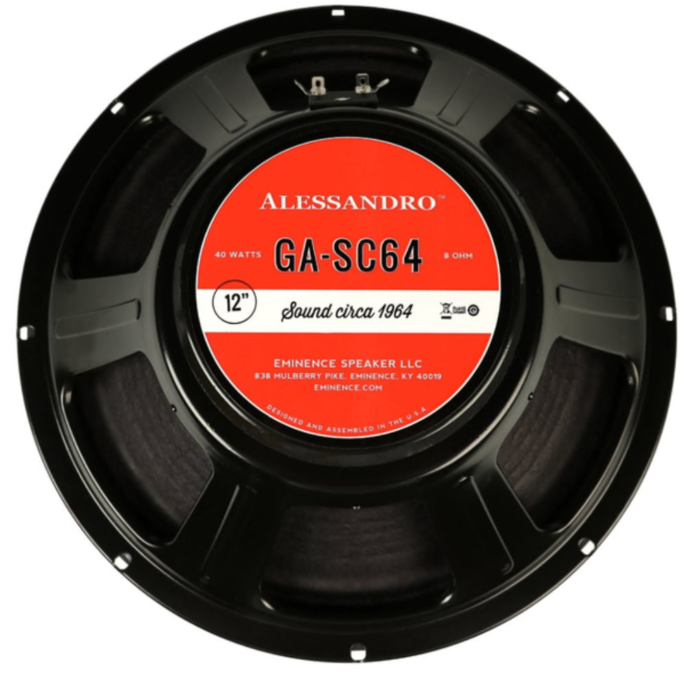 "Eminence George Alessandro GA-SC64 12"" 40 Watt Guitar Speaker - The Speaker Factory"