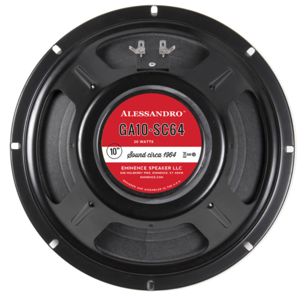 "Eminence George Alessandro Signature GA10 SC64 10"" Speaker 20 Watts 8 Ohm - The Speaker Factory"