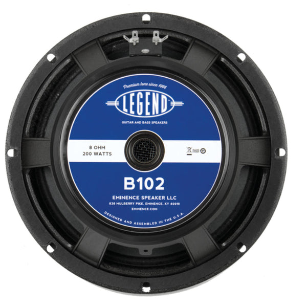 "Eminence LEGEND B102 10"" Bass Guitar Speaker 200 Watts 8 Ohm - The Speaker Factory"