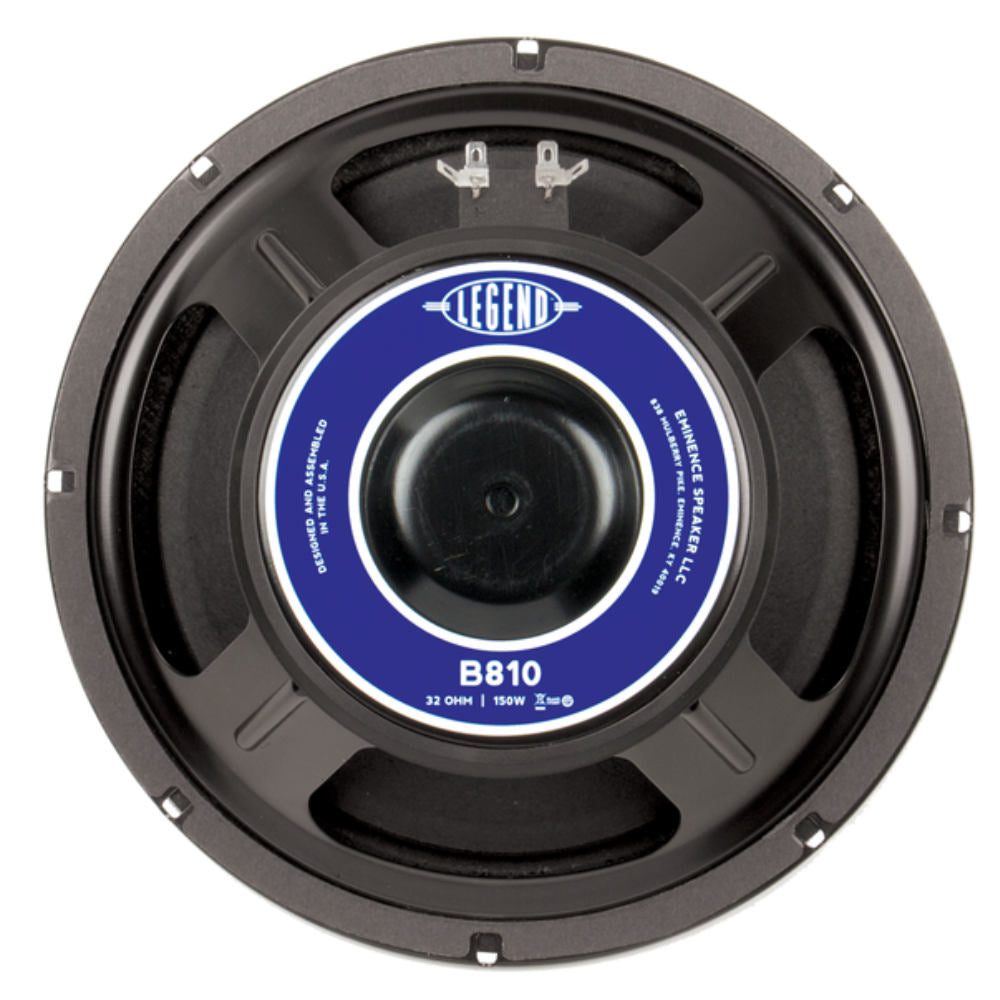 "Eminence LEGEND B810 10"" Bass Guitar Speaker 150 Watts 32 Ohm - The Speaker Factory"