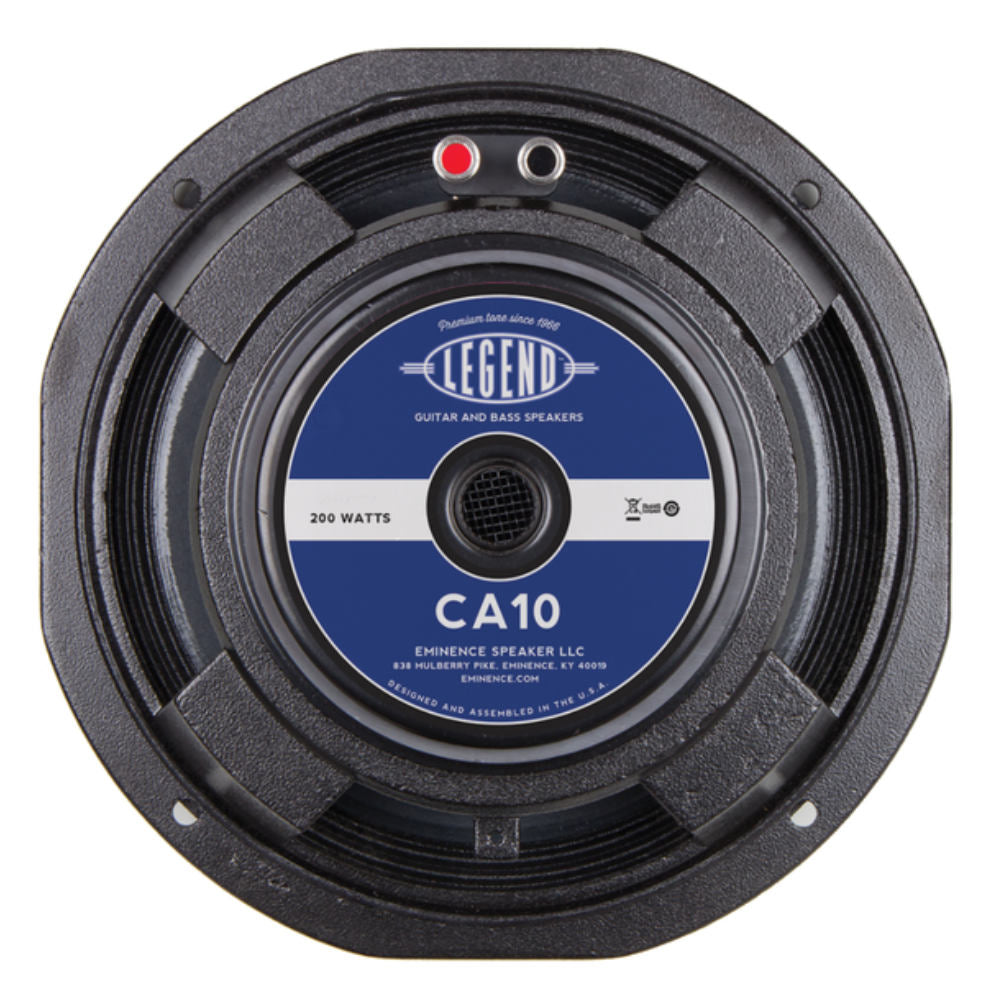 "Eminence LEGEND CA10-8 10"" Bass Guitar Speaker 200 Watt 8 Ohm - The Speaker Factory"