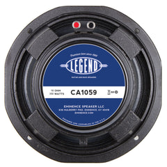 "Eminence LEGEND CA1059 10"" Bass Speaker 250 Watts 16 Ohm"