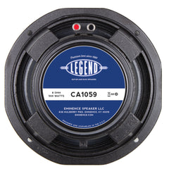 "Eminence LEGEND CA1059 10"" Bass Speaker 250 Watts 8 Ohm"