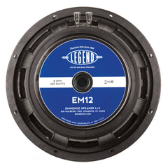 "Eminence Legend EM12 12"" Guitar Speaker 200 Watts 8 Ohms"