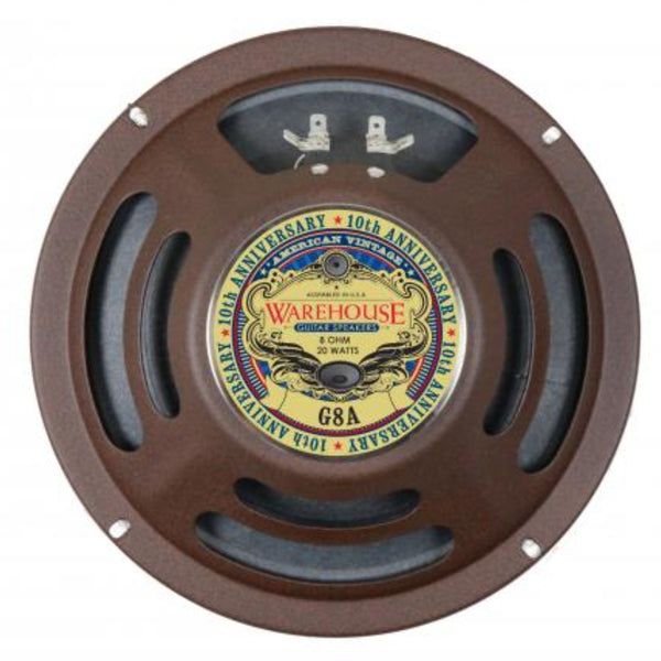 "WGS G8A 8"" Alnico 20 watt  American Vintage Guitar Speaker - The Speaker Factory"